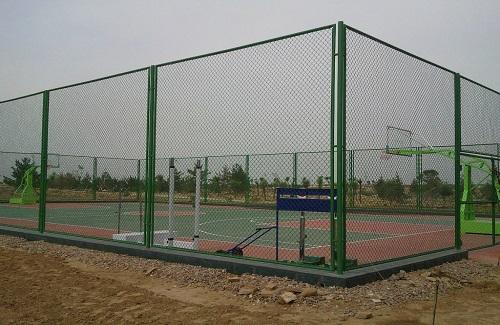 浙江某地区篮球场施工案例