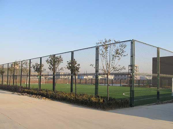 某地区足球场围网施工案例